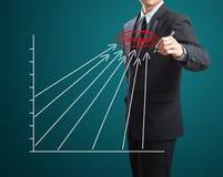 Διάγραμμα επιτυχίας σχεδίων ατόμων Στοκ εικόνα με δικαίωμα ελεύθερης χρήσης