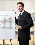 διάγραμμα επιχειρηματιών π Στοκ φωτογραφίες με δικαίωμα ελεύθερης χρήσης