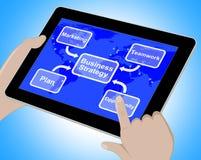 Διάγραμμα επιχειρησιακής στρατηγικής που παρουσιάζει στην ομαδική εργασία τρισδιάστατη απόδοση ελεύθερη απεικόνιση δικαιώματος