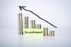 Διάγραμμα διαγραμμάτων έννοιας επένδυσης Στοκ Φωτογραφίες