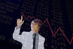 διάγραμμα οικονομικό Στοκ Εικόνες