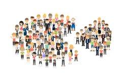 Διάγραμμα πιτών με τους ανθρώπους διανυσματική απεικόνιση