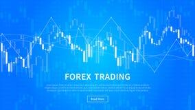 Διάγραμμα ραβδιών κεριών του εμπορικού διανυσματικού εμβλήματος χρηματοοικονομικών αγορών Στοκ εικόνες με δικαίωμα ελεύθερης χρήσης