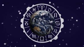 Διάγραμμα σημαδιών σφαιρών και zodiac ελεύθερη απεικόνιση δικαιώματος