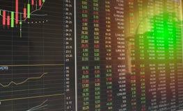 Διάγραμμα χρηματιστηρίου Στοκ φωτογραφίες με δικαίωμα ελεύθερης χρήσης