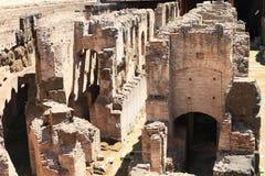 Διάδρομοι και σήραγγα του τεχνικού υποβάθρου Colosseum στοκ εικόνες με δικαίωμα ελεύθερης χρήσης