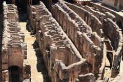 Διάδρομοι του τεχνικού υποβάθρου Colosseum στοκ εικόνα
