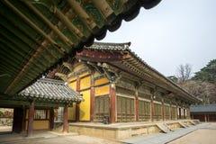 Διάδρομοι Museoljeon στο ναό bulguksa στοκ φωτογραφίες με δικαίωμα ελεύθερης χρήσης