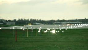 Διάδρομος αερολιμένων LIT το βράδυ απόθεμα βίντεο