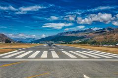 Διάδρομος αερολιμένων Queenstown στοκ φωτογραφίες με δικαίωμα ελεύθερης χρήσης