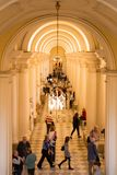 Διάδρομος μέσα στο μουσείο κρατικών ερημητηρίων στη Ρωσία Στοκ Φωτογραφίες