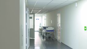 Διάδρομος σε ένα νοσοκομείο απόθεμα βίντεο