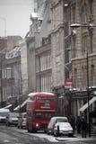 Διάδρομος του Λονδίνου στο χιόνι Στοκ Φωτογραφία