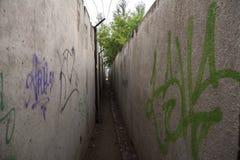 Διάδρομος των τσιμεντένιων πλακών Στοκ εικόνες με δικαίωμα ελεύθερης χρήσης