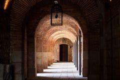 Διάδρομος Archs σε Montjuic Castle Στοκ φωτογραφία με δικαίωμα ελεύθερης χρήσης