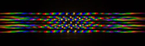 Διάθλαση του φωτός από το λαμπτήρα των οδηγήσεων στο κιγκλίδωμα Στοκ Εικόνες