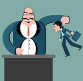 Διάκριση των εργαζομένων Επιχείρηση μαριονετών Κύριοι υπάλληλοι ελέγχου διανυσματική απεικόνιση