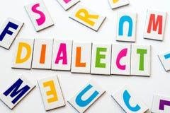 Διάλεκτος λέξης φιαγμένη από ζωηρόχρωμες επιστολές Στοκ φωτογραφία με δικαίωμα ελεύθερης χρήσης