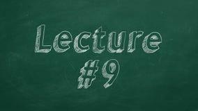 Διάλεξη #9 ελεύθερη απεικόνιση δικαιώματος