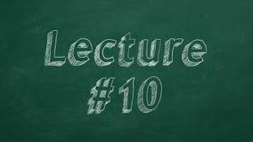 Διάλεξη #10 διανυσματική απεικόνιση