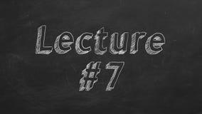 Διάλεξη 7 διανυσματική απεικόνιση