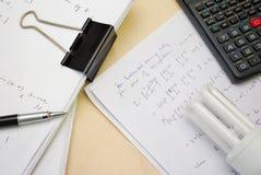 διάλυμα εξισώσεων math Στοκ Φωτογραφία
