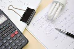 διάλυμα εξισώσεων math Στοκ Φωτογραφίες