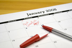 Διάλυση του νέου έτους Στοκ Φωτογραφίες