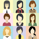 Διάνυσμα λάμψης ειδώλων γυναικών Στοκ Εικόνα