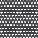 Διάνυσμα - άνευ ραφής Gingham σχέδιο με τις καρδιές στο λευκό διανυσματική απεικόνιση