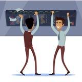 Διάνυσμα έννοιας επιτυχίας εργασίας επιχειρησιακής ομάδας ελεύθερη απεικόνιση δικαιώματος