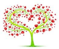 Διάνυσμα δέντρων αγάπης Στοκ εικόνες με δικαίωμα ελεύθερης χρήσης