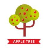 Διάνυσμα δέντρων της Apple Στοκ Φωτογραφία