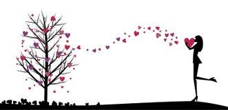 διάνυσμα αγάπης κοριτσιών ελεύθερη απεικόνιση δικαιώματος