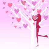 διάνυσμα αγάπης κοριτσιών διανυσματική απεικόνιση