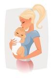 διάνυσμα αγάπης mom Στοκ εικόνα με δικαίωμα ελεύθερης χρήσης