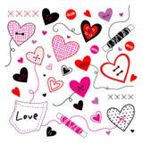 Διάνυσμα αγαπημένων βαλεντίνων αγάπης διανυσματική απεικόνιση
