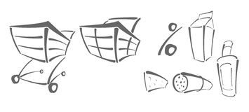 διάνυσμα αγορών εικονιδί& απεικόνιση αποθεμάτων