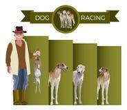 Διάνυσμα αγώνα σκυλιών απεικόνιση αποθεμάτων
