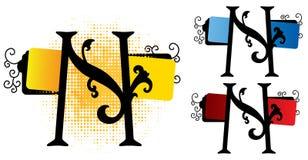 διάνυσμα αλφάβητου ν Στοκ Εικόνα