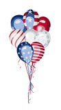 Διάνυσμα ΑΜΕΡΙΚΑΝΙΚΗΣ εθνικής εορτής μπαλονιών αμερικανικών σημαιών Στοκ Εικόνες