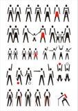 διάνυσμα ανθρώπων εικονογραμμάτων Στοκ φωτογραφία με δικαίωμα ελεύθερης χρήσης