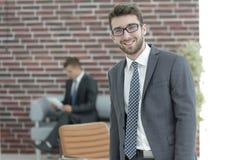 διάνυσμα ανθρώπων επιχειρησιακής απεικόνισης jpg επιτυχής επιχειρηματίας με ένα χαρτοφυλάκιο Στοκ φωτογραφία με δικαίωμα ελεύθερης χρήσης