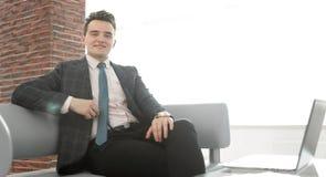 διάνυσμα ανθρώπων επιχειρησιακής απεικόνισης jpg Πορτρέτο του βέβαιου επιχειρηματία Στοκ Εικόνα
