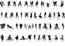 διάνυσμα ανθρώπων χορού διανυσματική απεικόνιση