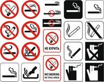 διάνυσμα απαγόρευσης του καπνίσματος Στοκ εικόνα με δικαίωμα ελεύθερης χρήσης