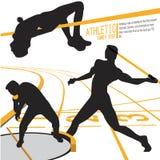 Διάνυσμα απεικόνισης αθλητικής δράσης αθλητών Στοκ εικόνες με δικαίωμα ελεύθερης χρήσης