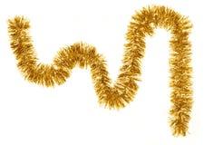 διάνυσμα απεικόνισης γιρλαντών Χριστουγέννων καρτών ανασκόπησης Χρυσό χρώμα Στοκ εικόνα με δικαίωμα ελεύθερης χρήσης