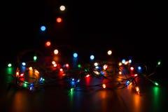 διάνυσμα απεικόνισης γιρλαντών Χριστουγέννων καρτών ανασκόπησης Στοκ φωτογραφίες με δικαίωμα ελεύθερης χρήσης
