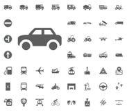 διάνυσμα απεικόνισης εικονιδίων αυτοκινήτων eps10 Καθορισμένα εικονίδια μεταφορών και διοικητικών μεριμνών Καθορισμένα εικονίδια  Στοκ Εικόνες